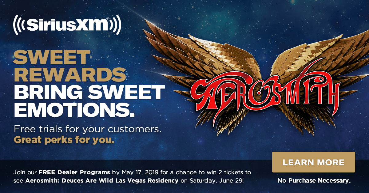 Join our FREE Dealer Programs by May 17, 2019 for a chance to win 2 tickets to see Aerosmith in Las Vegas on Saturday, June 29!